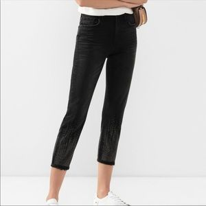 Current Elliott black cropped jeans
